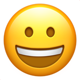 Emoji Wajah Menyeringai Apple