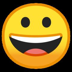 Emoji Wajah Menyeringai Google