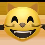 Emoji Kucing Menyeringai dengan Mata Tersenyum Apple