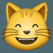 Emoji Kucing Menyeringai dengan Mata Tersenyum Samsung