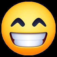 Wajah Berseri dengan Mata Tersenyum Facebook