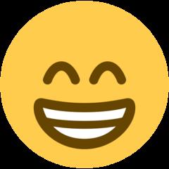 Wajah Berseri dengan Mata Tersenyum Twitter