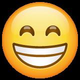 Wajah Berseri dengan Mata Tersenyum WhatsApp