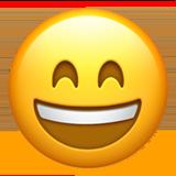 Wajah Menyeringai dengan Mata Tersenyum Apple