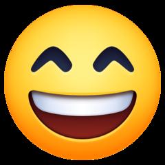 Wajah Menyeringai dengan Mata Tersenyum Facebook