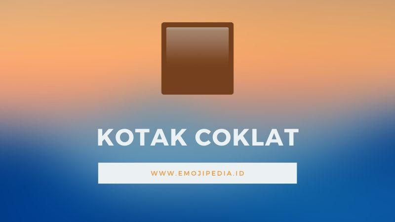 Arti Emoji Kotak Coklat by Emojipedia.ID