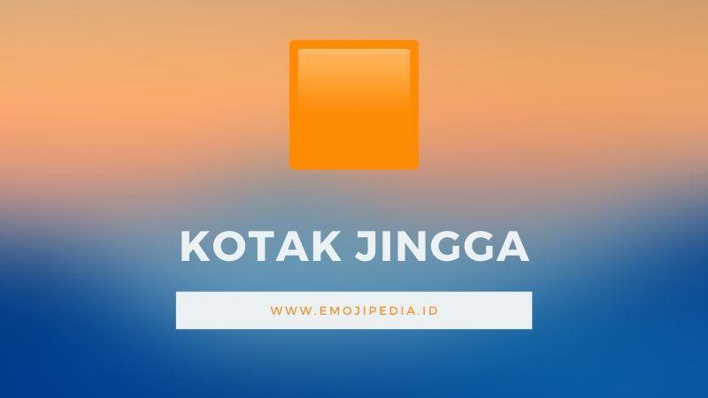 Arti Emoji Kotak Jingga by Emojipedia.ID