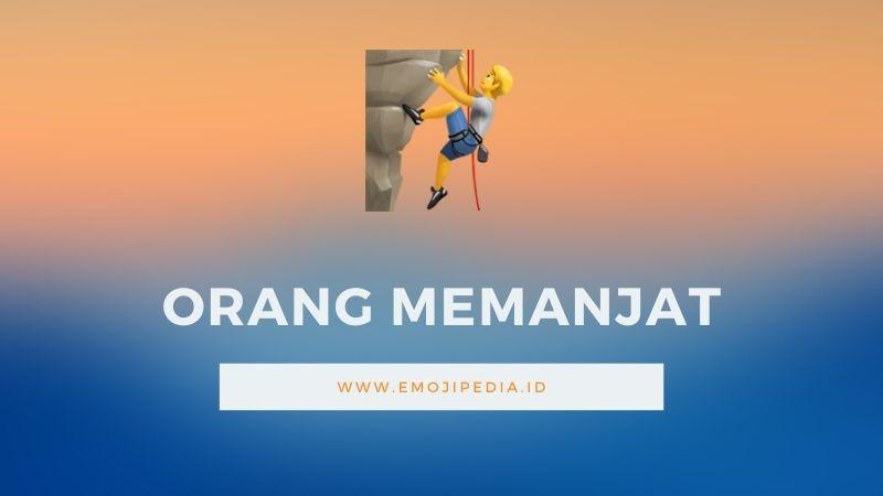 Arti Emoji Orang Memanjat by Emojipedia.ID