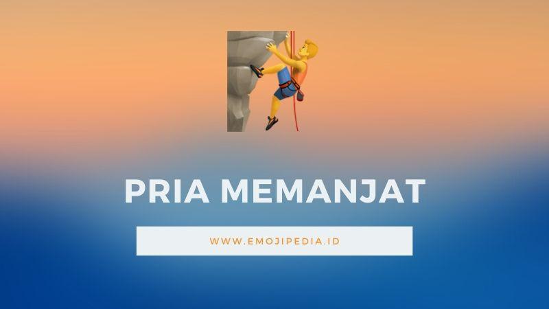 Arti Emoji Pria Memanjat by Emojipedia.ID