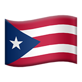 Emoji Bendera Puerto Rico Apple