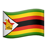 Emoji Bendera Zimbabwe Apple