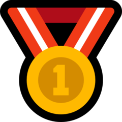 Emoji Medali Juara 1 Microsoft
