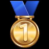 Emoji Medali Juara 1 WhatsApp