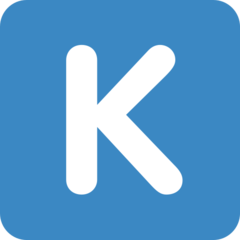 Emoji Simbol Indikator Regional Huruf K Twitter