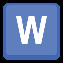 Emoji Simbol Indikator Regional Huruf W Facebook