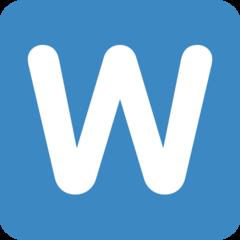 Emoji Simbol Indikator Regional Huruf W Twitter