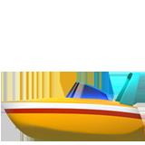 Emoji Perahu Motor Cepat Apple