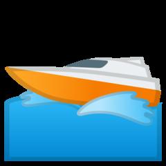 Emoji Perahu Motor Cepat Google