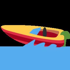 Emoji Perahu Motor Cepat Twitter