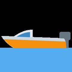 Emoji Perahu Motor Twitter