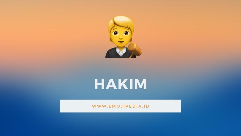 Arti Emoji Hakim by Emojipedia.ID