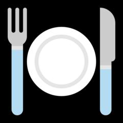 Emoji Garpu dan Pisau dengan Piring Microsoft
