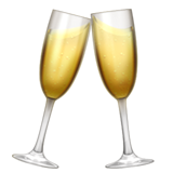 Emoji Gelas Bersulang Apple