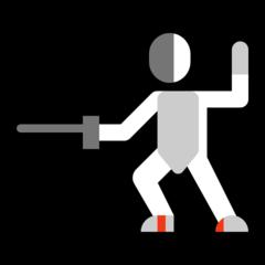 Emoji Pemain Anggar Microsoft
