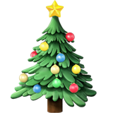 Emoji Pohon Natal Apple