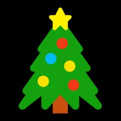 Emoji Pohon Natal Microsoft