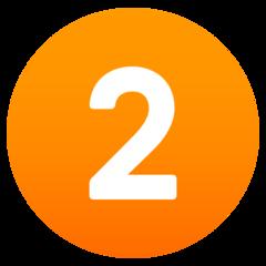 Emoji Angka Dua JoyPixels