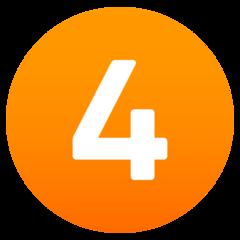 Emoji Angka Empat JoyPixels