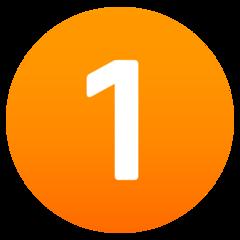 Emoji Angka Satu JoyPixels