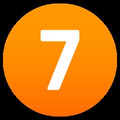 Emoji Angka Tujuh JoyPixels