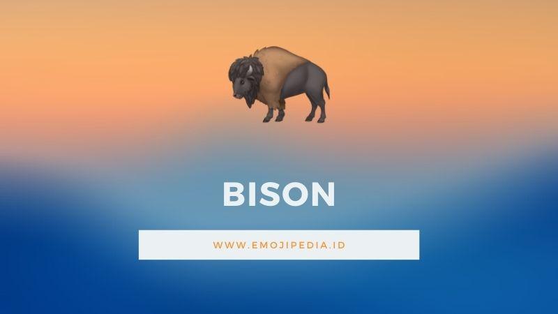 Arti Emoji Bison by Emojipedia.ID