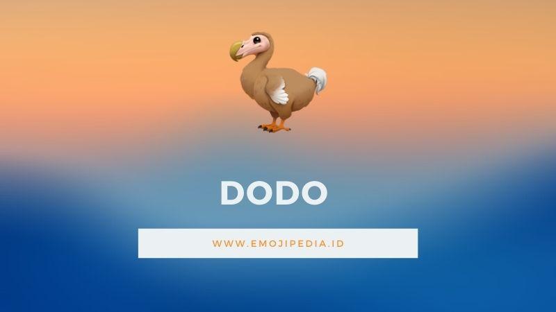 Arti Emoji Dodo by Emojipedia.ID