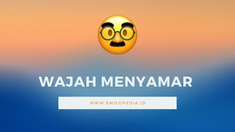 Arti Emoji Wajah Menyamar by Emojipedia.ID