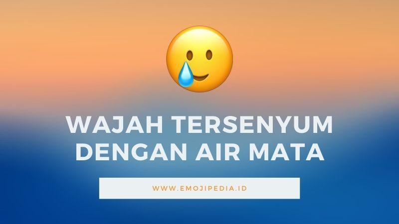 Arti Emoji Wajah Tersenyum dengan Air Mata by Emojipedia.ID