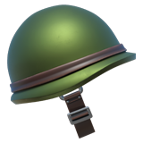 Emoji Helm Militer Apple