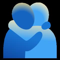 Emoji Orang Berpelukan Google