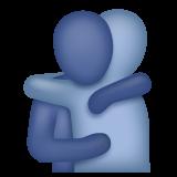 Emoji Orang Berpelukan WhatsApp