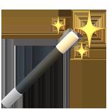 Emoji Tongkat Sihir Apple