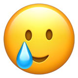 Emoji Wajah Tersenyum dengan Air Mata Apple
